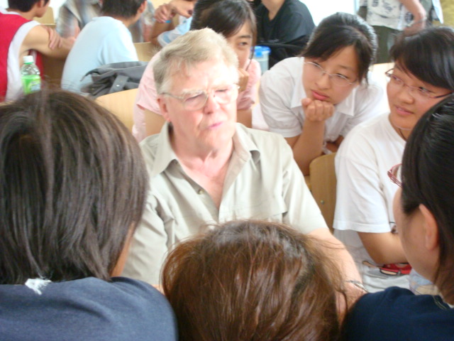 Tony Wanstall,  from B.C.,  Canada,  sits in on a class at Jiangnan University,  Wuxi,  China