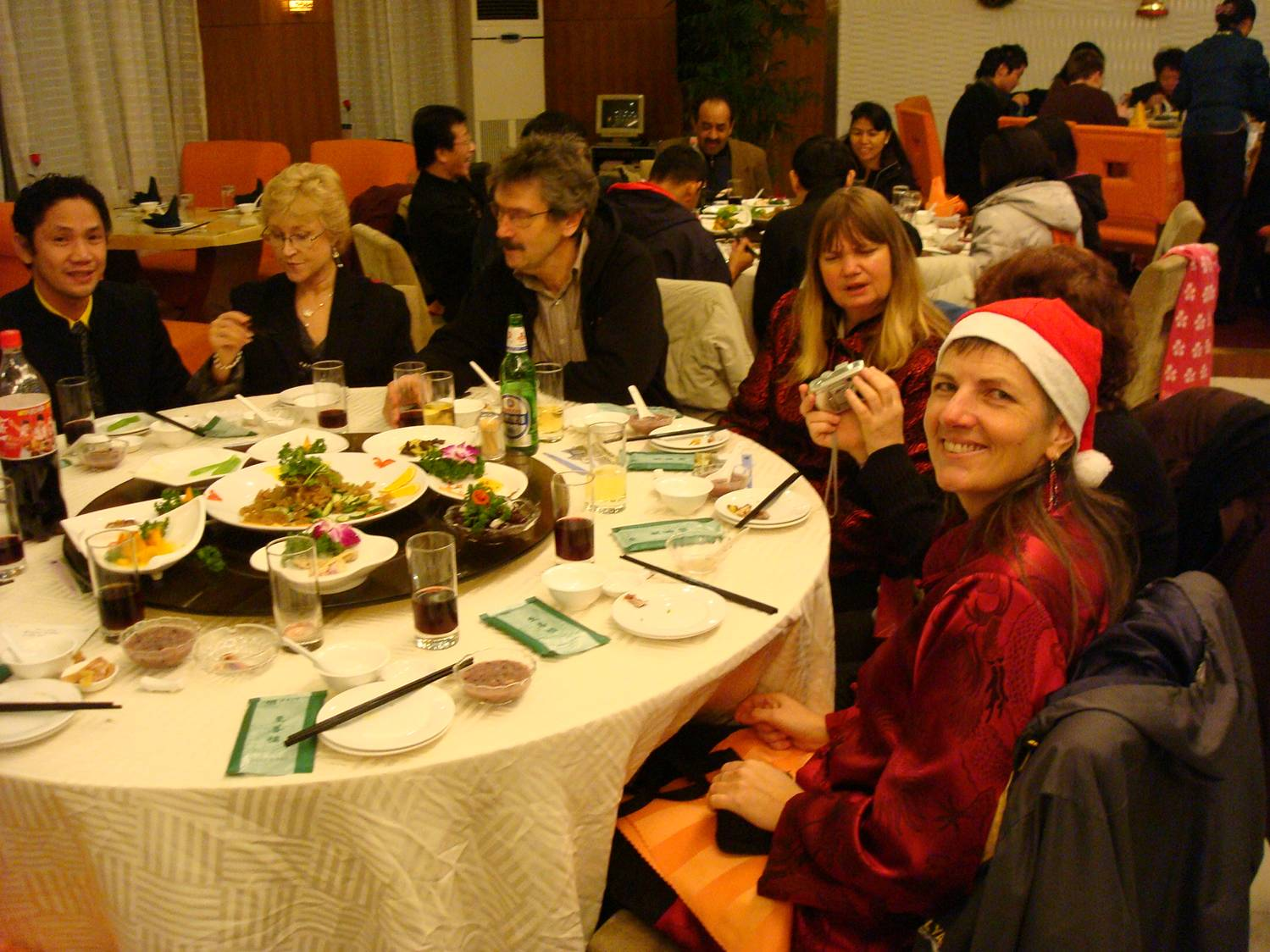 faculty Christmas feast Jiangnan University,  Wuxi,  China