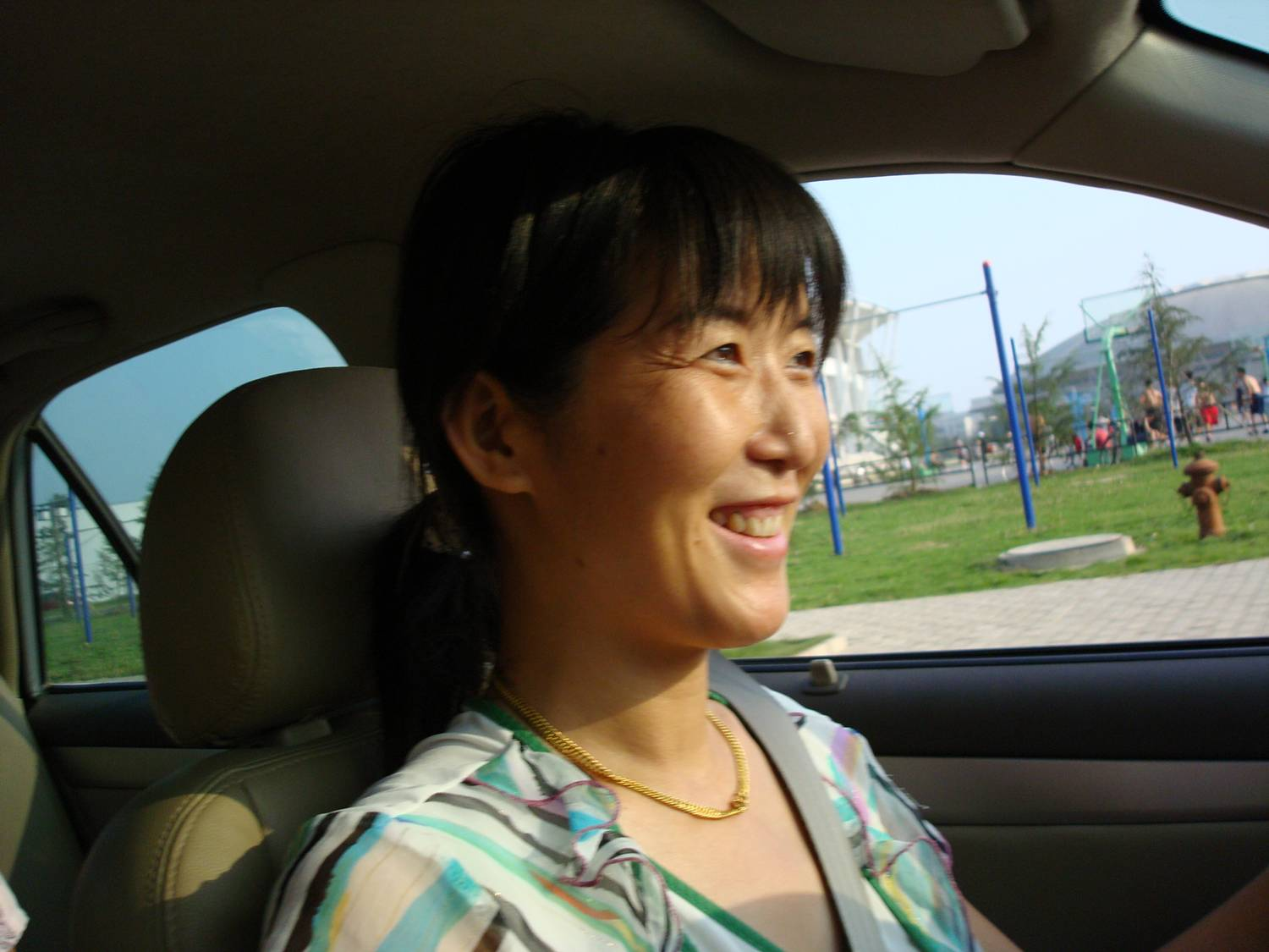 Ms. Chen,  our driver,  Wuxi,  China