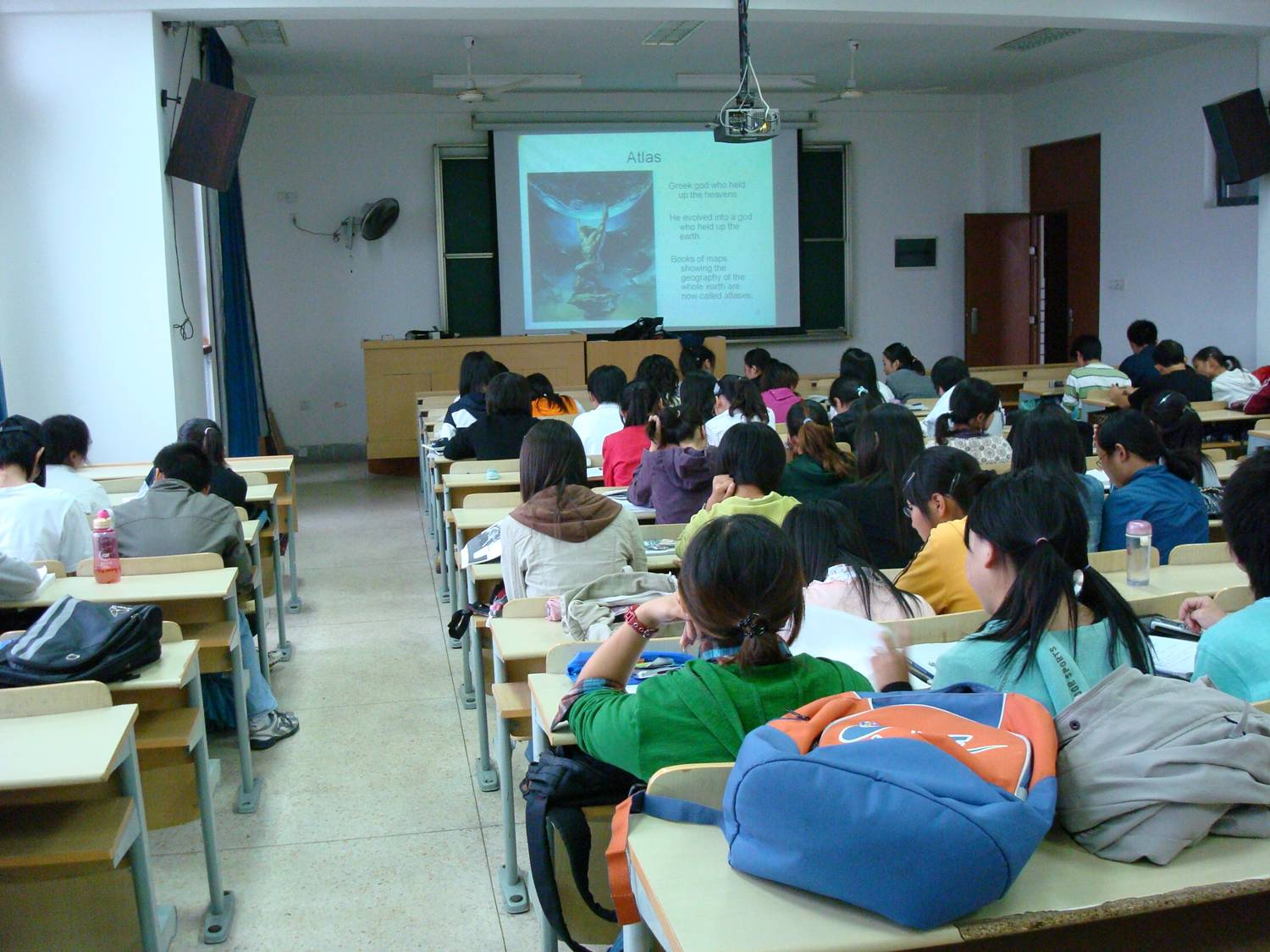 students in classroom Jiangnan University,  Wuxi,  China