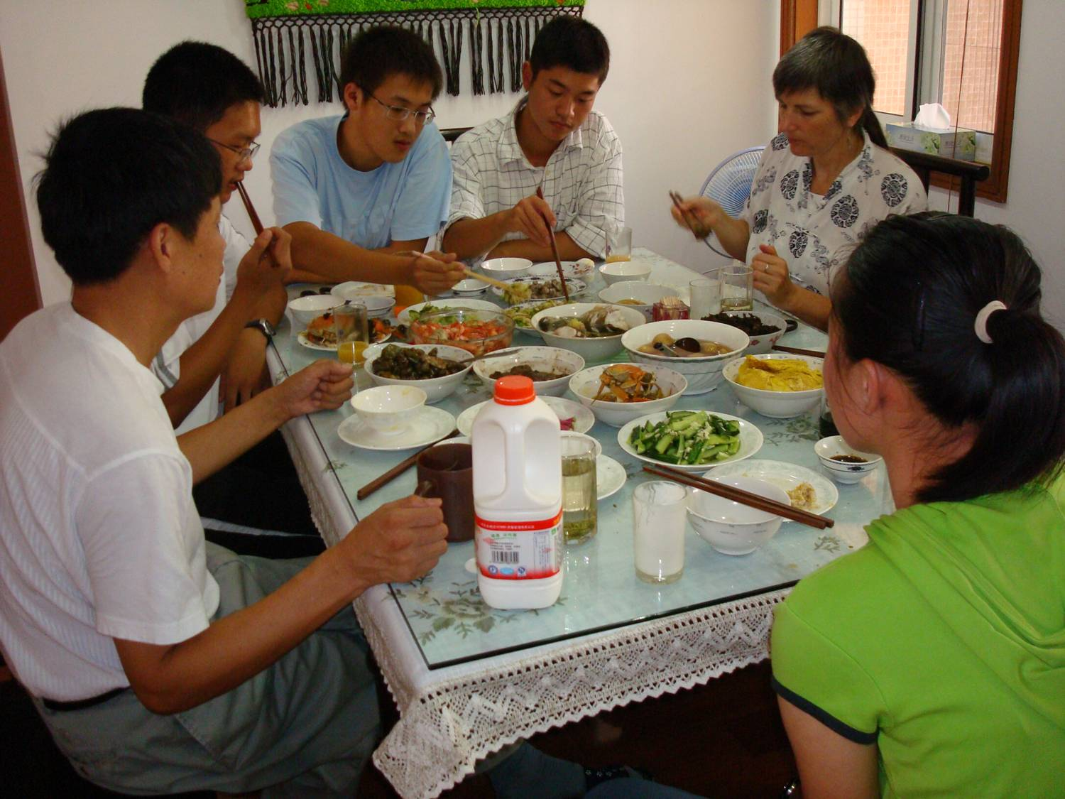 lunch with George's family,  Wuxi,  China