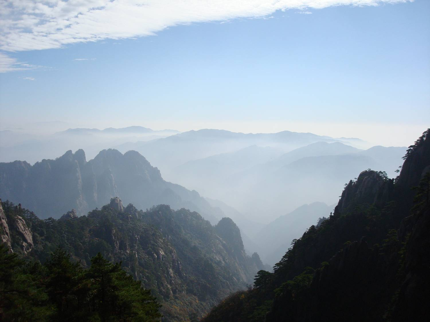 View from Huangshan,  China