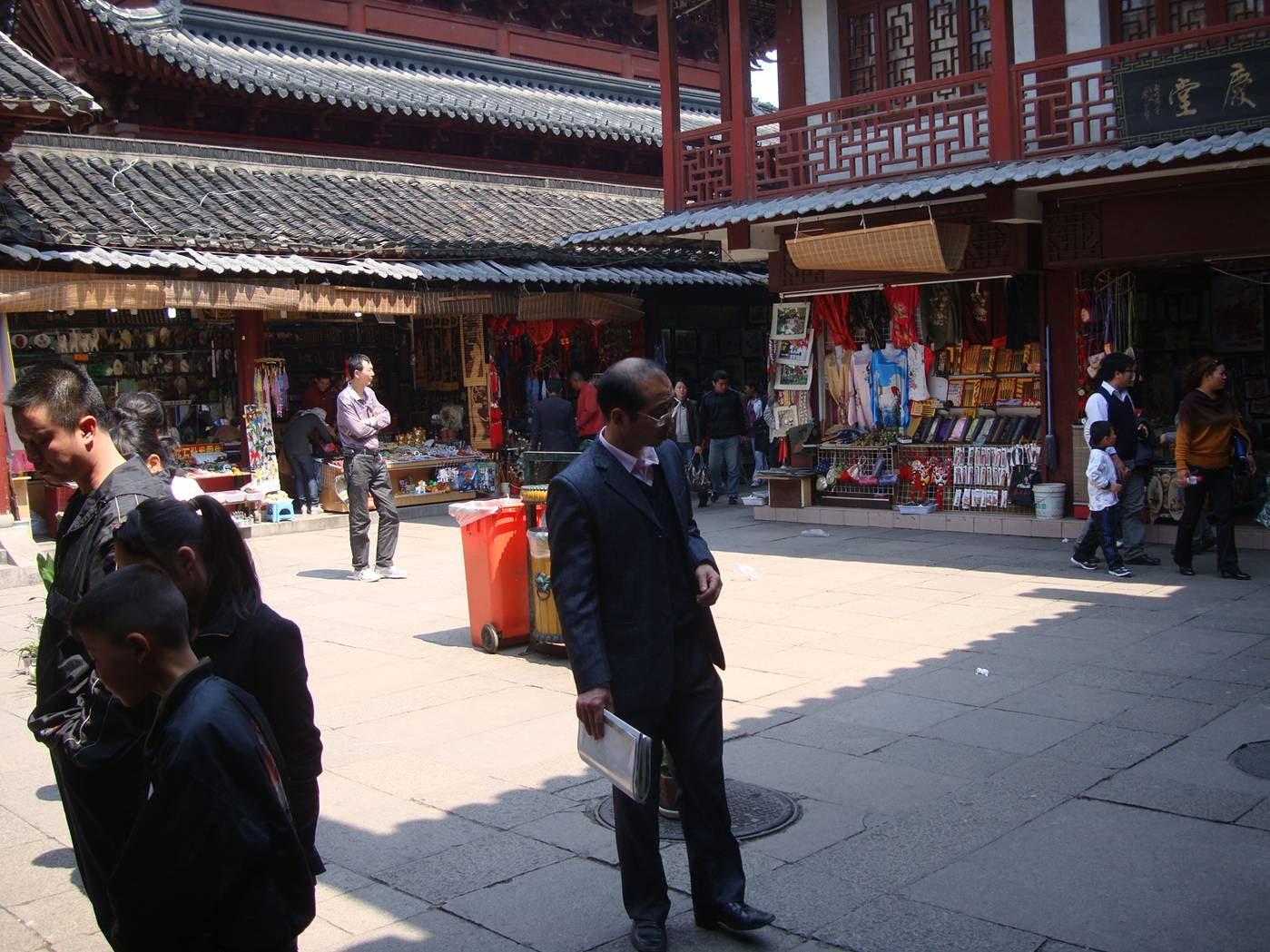 Temple market, Nanjing, China