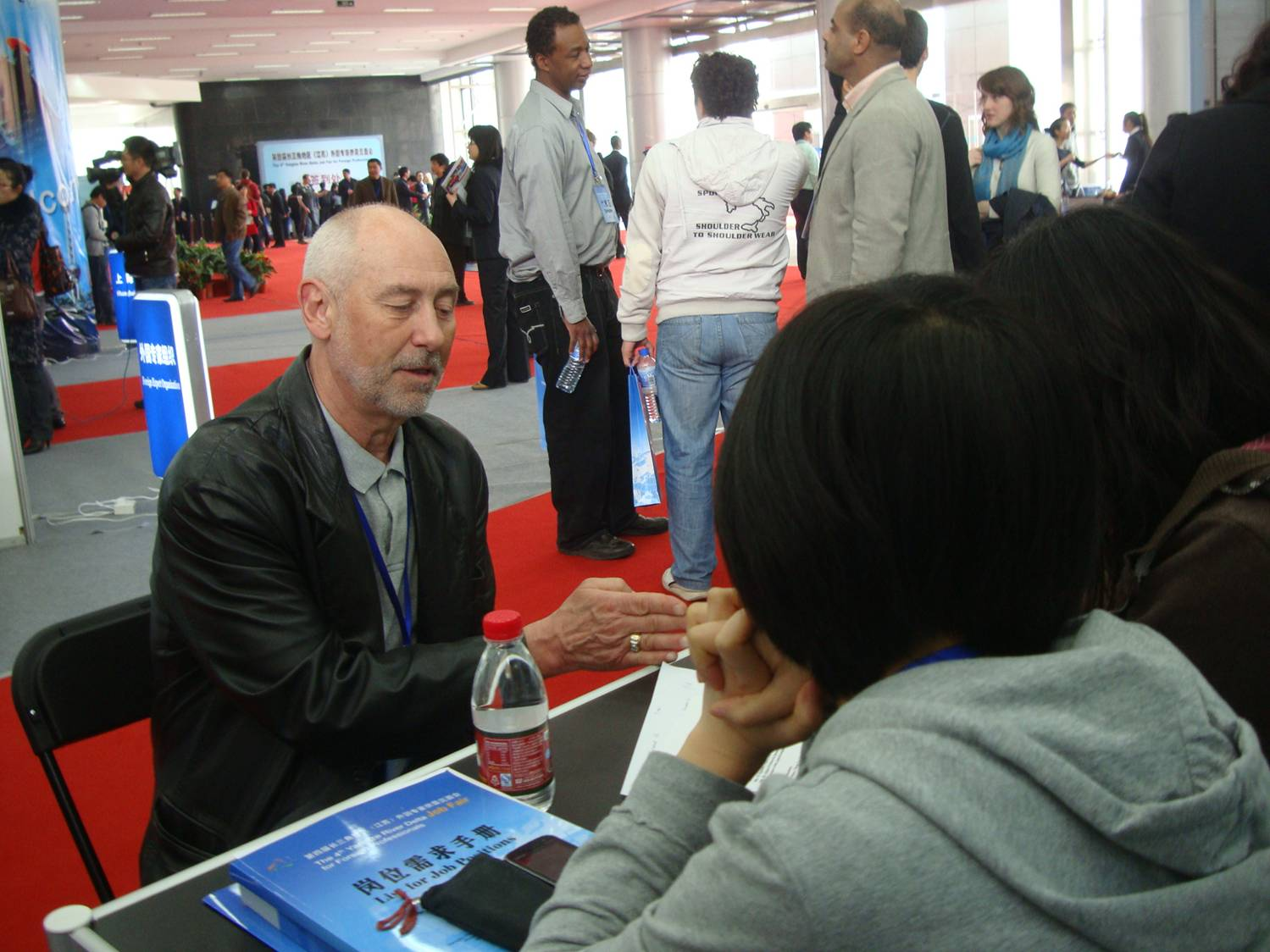 Jack explores potentials at the 4th Yangtze River Delta Job Fair for Foreign Professionals, Nanjing, China