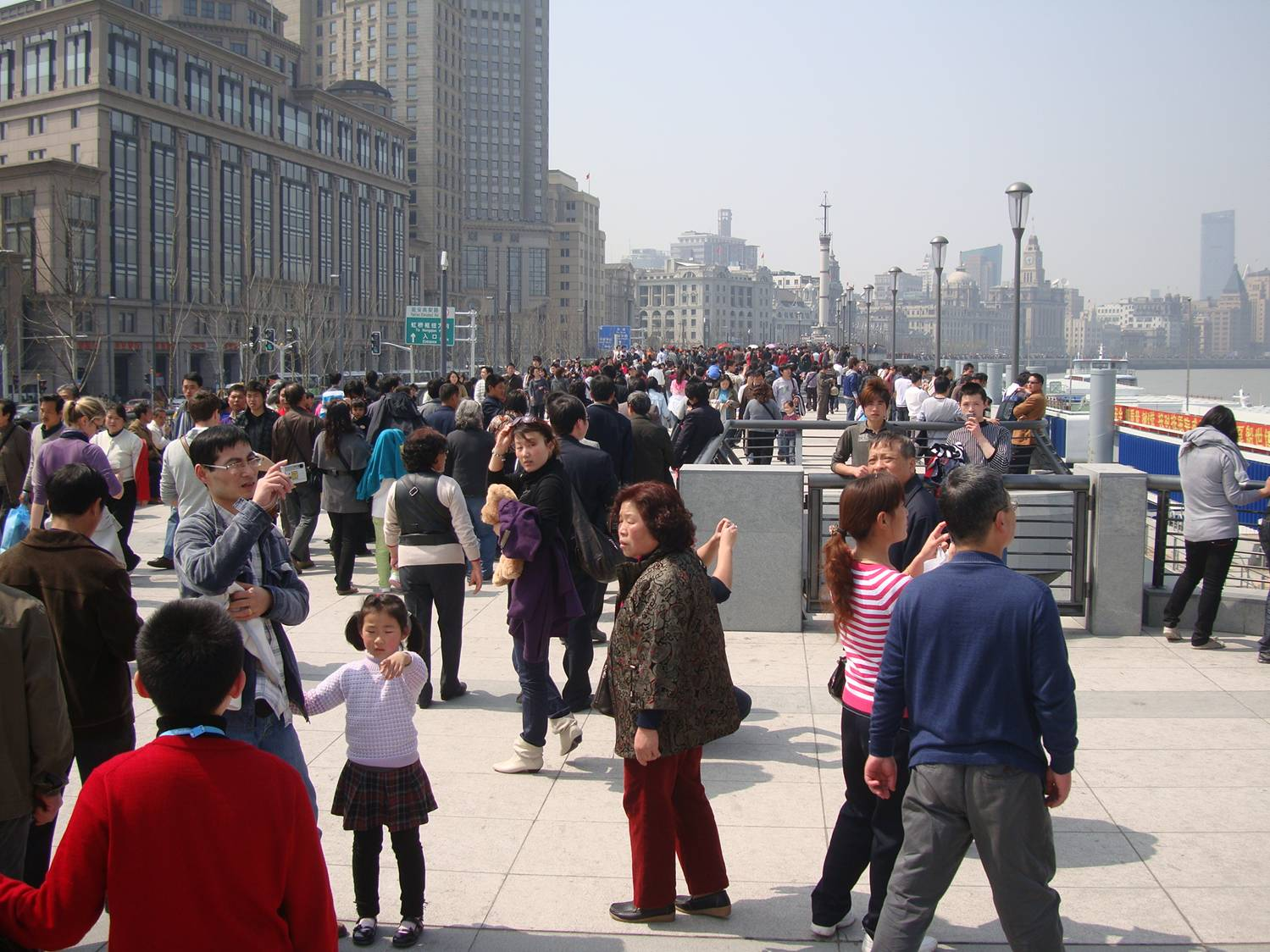 The newly renovated Bund, ready for Shanghai's Expo 2010.