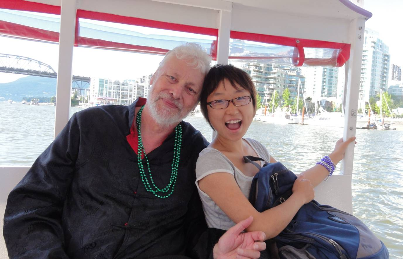 Picture:  David and Panda on the False Creek ferry.  Vancouver, B.C.