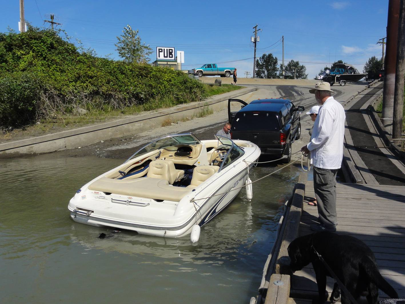 Picture:  Launching at the Mission boat ramp.  Mission, B.C., Canada