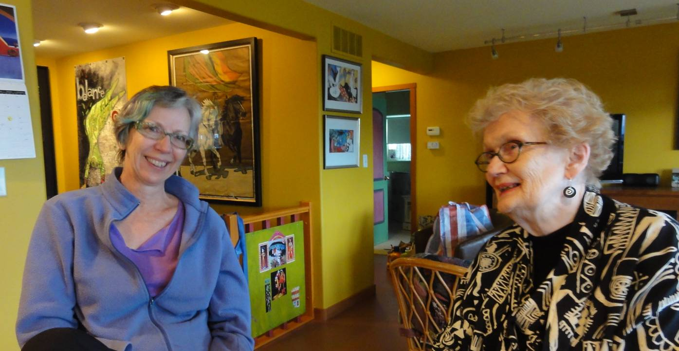 Picture:  Pavelka, the artist, and her mom.  Gibsons, B.C., Canada
