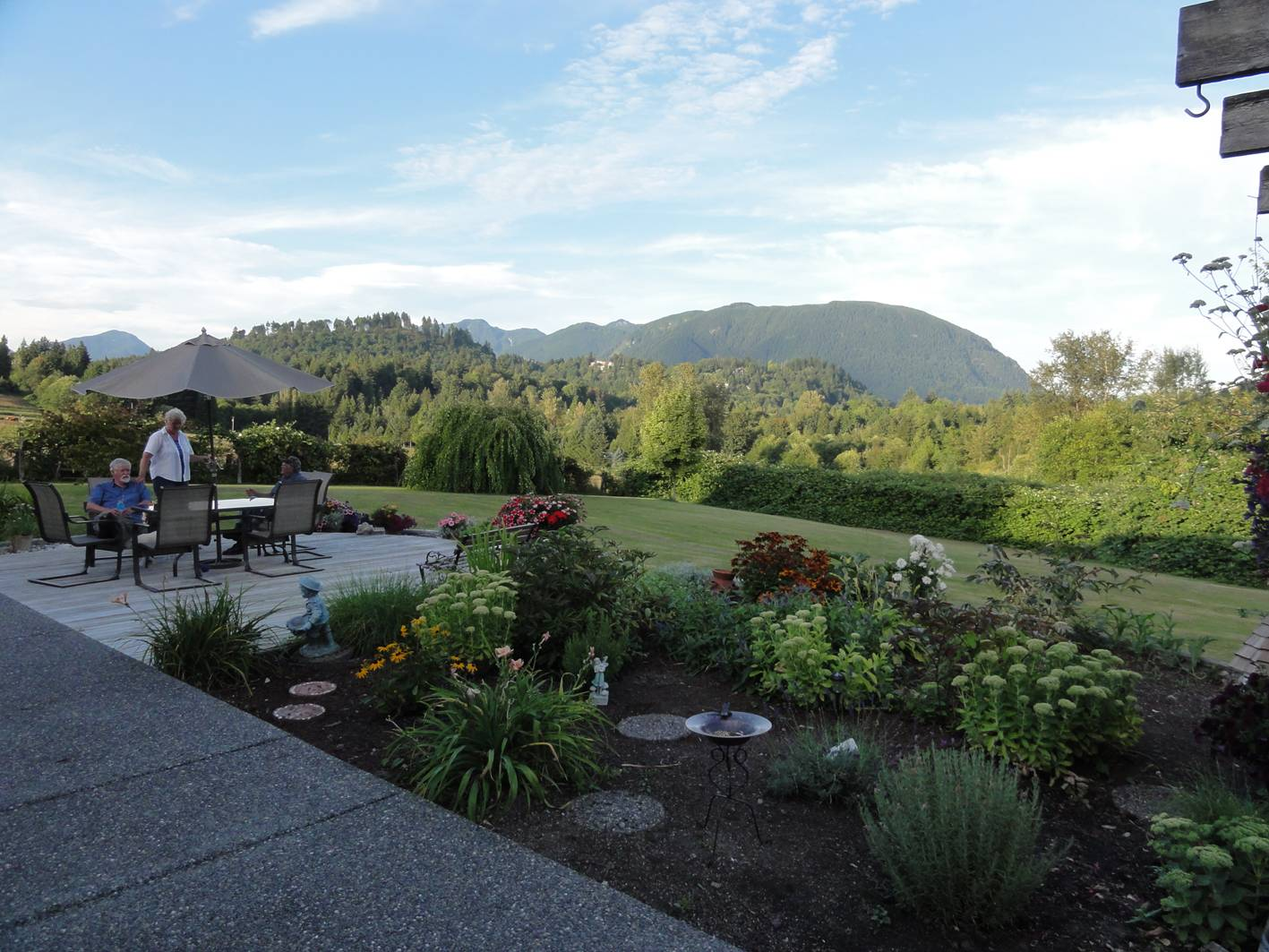 Picture:  Tony and Donna's magnificent back yard.  Mission, B.C., Canada