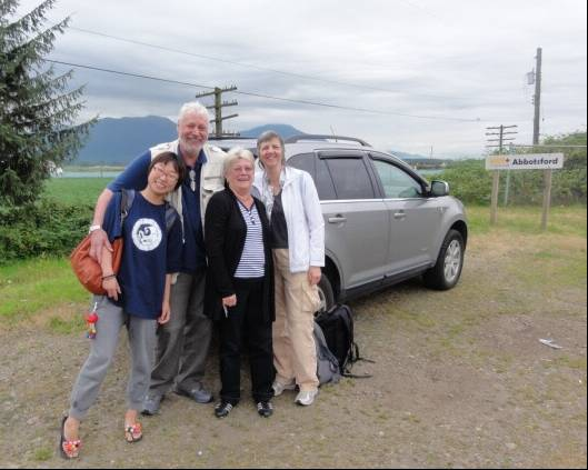 Picture:  My sister Susan managed to find the right place to meet us when we got off the train.  Thanks again, Sue.  Matsqui, B.C.  Canada