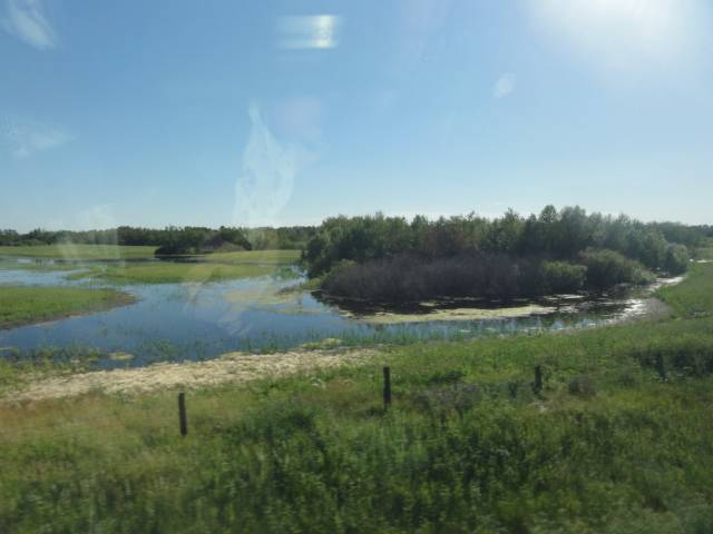 Picture:  Who says there's nothing to see on the prairies.  View from the window of Via Rail.