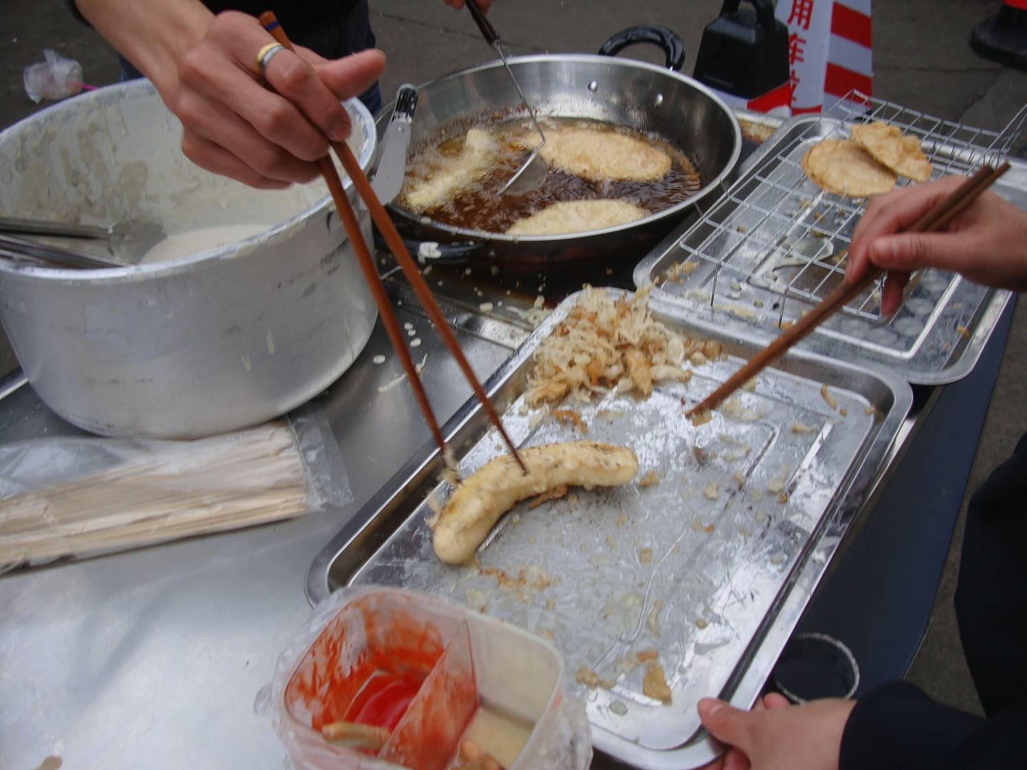 Picture: Deep fried banana.  Tasty street food.  Haikou on Hainan Island, China