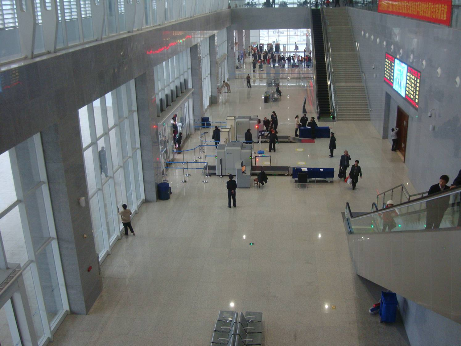 Picture:  The clean and shiny train station in Haikou where you catch the fast train to Sanya.  Hainan Island, China