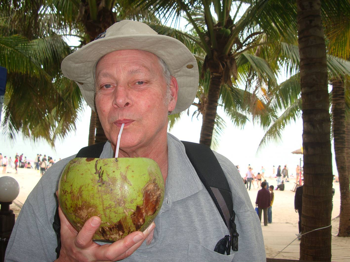 Picture:  I've always enjoyed coconut milk.  Da Dong Hai.  Hainan Island, China