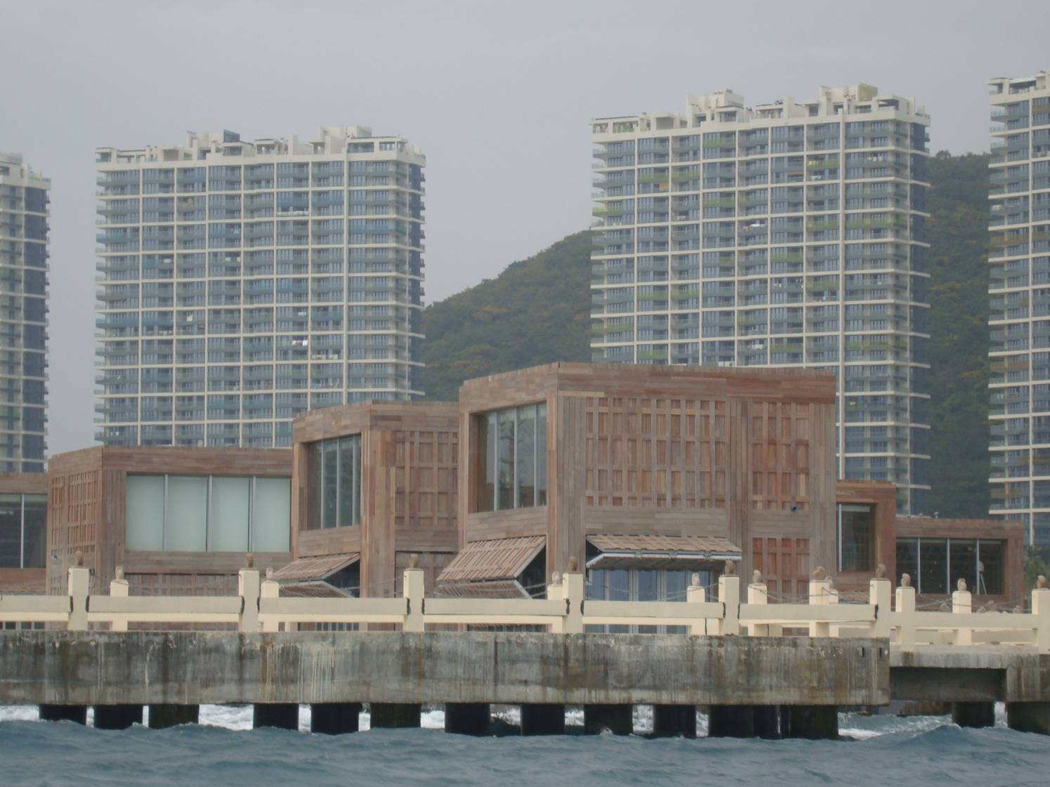Picture:  Float houses in the marina of Sanya, Hainan Island, China  My guess is they are expensive.