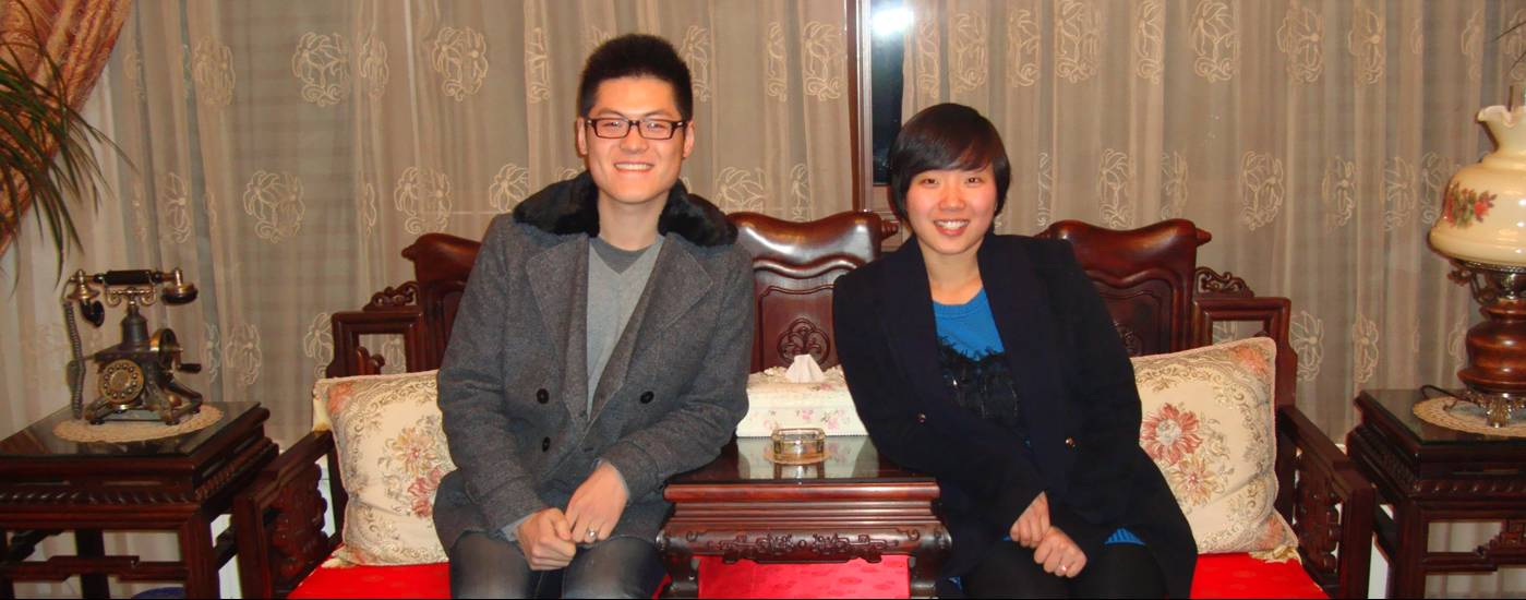 Picture:  Our friends Wang Tao and Lu Ying in their home in Wuxi, China.
