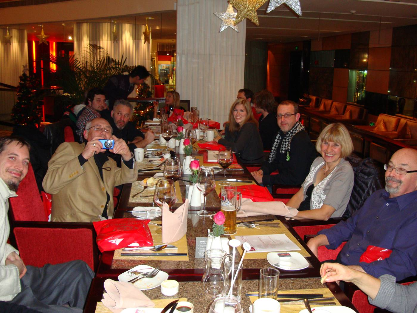 Picture:  Some of the teachers at the Five Star Feast, Kempinski Hotel, Wuxi, China
