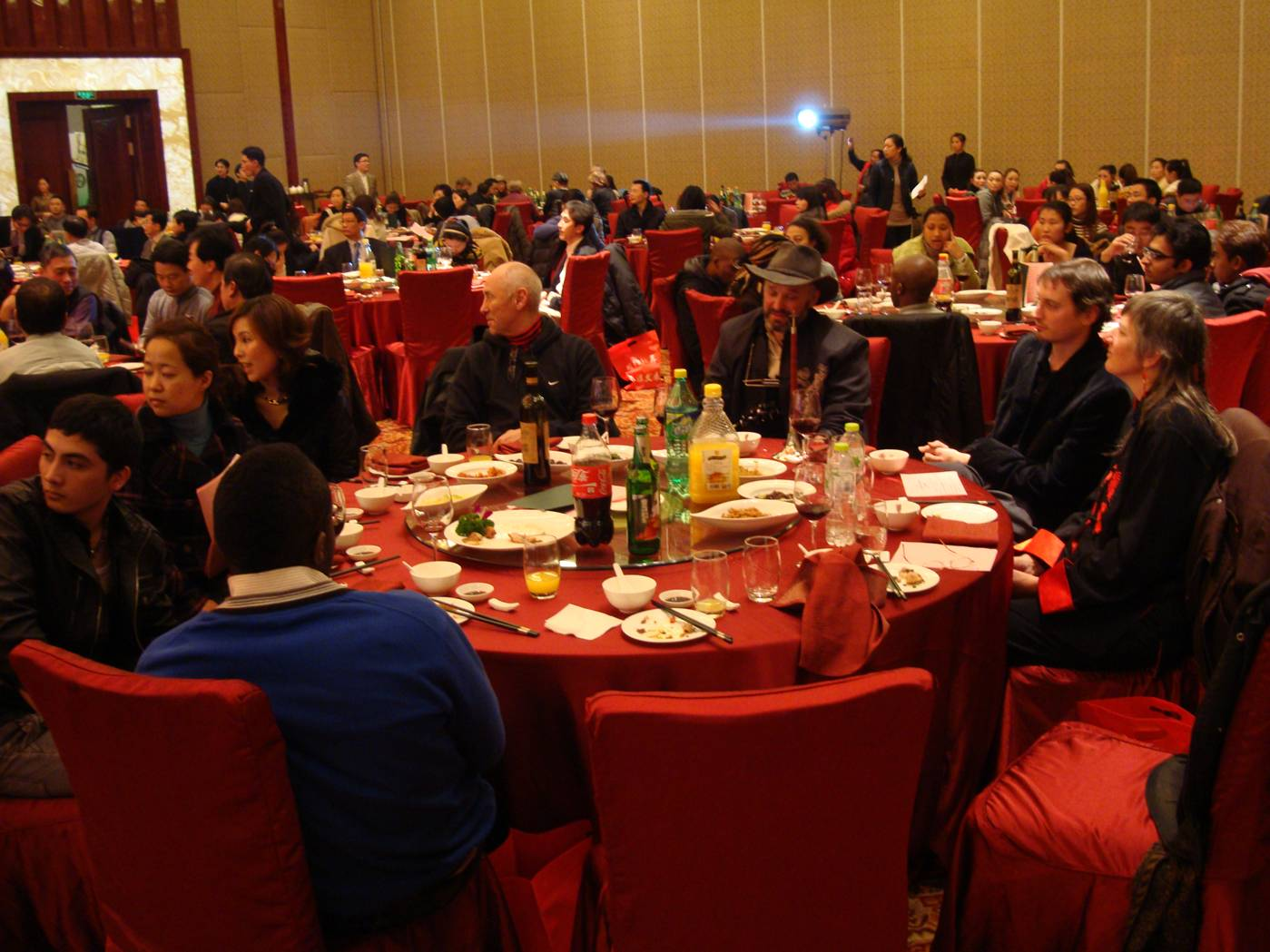 Ouf table, and guests of the AEFI New Year's Party, Wuxi, China