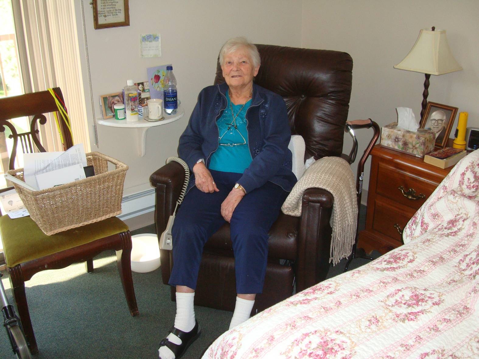 My mother, Thea Scott, in the assisted living home.  A good place for her.