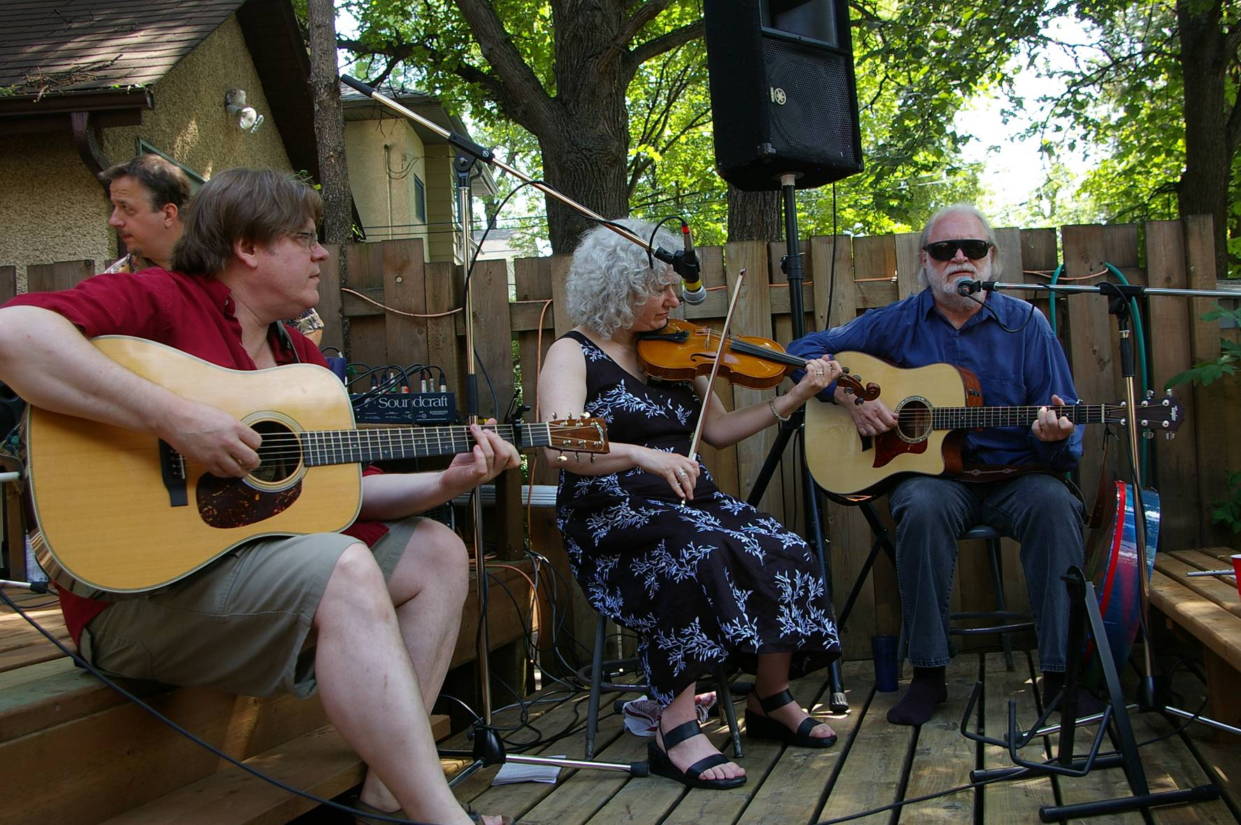 Sam Baardman,  Susan Israel and Dave Clement provided music for our wedding.  Winnipeg, Manitoba, Canada