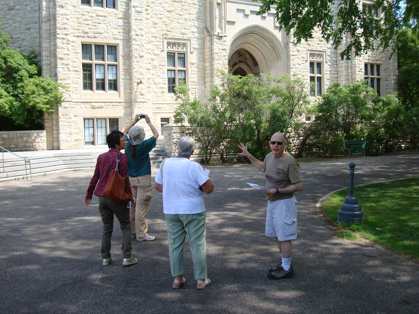 Picture:  Touring the University of Saskatchewan, we checked out the physics building.
