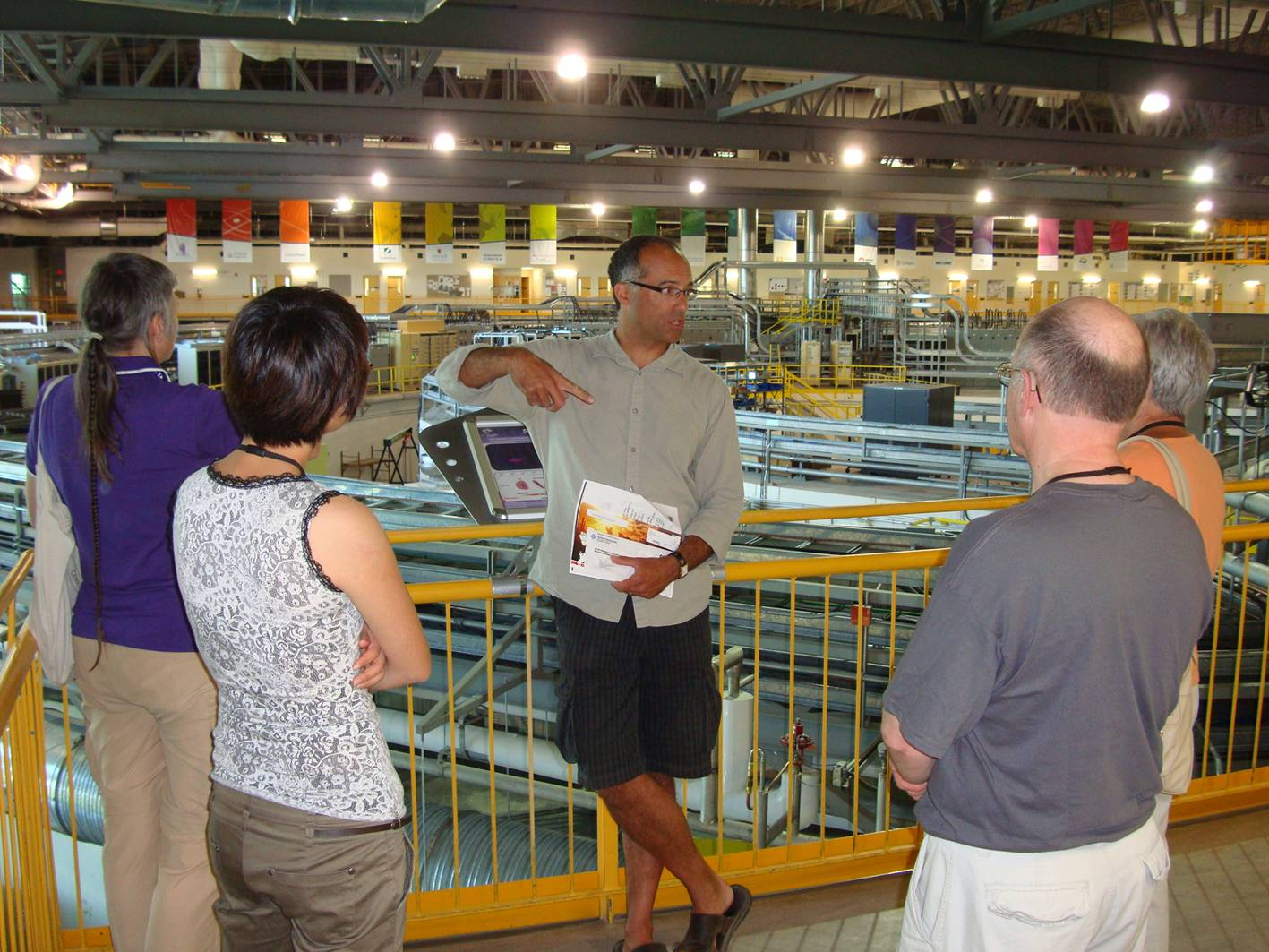 Picture:  Dr. Jeff Warner introduces us to the synchrotron.  Beyond impressive.