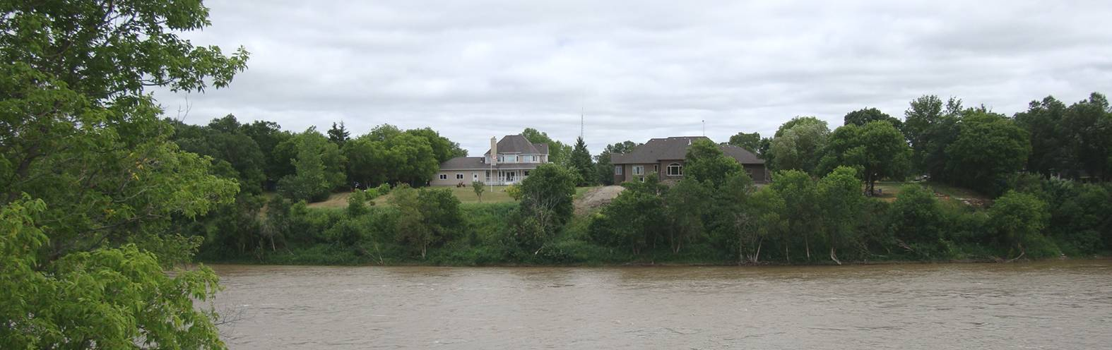 Picture:  The view across the river from Lower Fort Garry, Winnipeg, Manitoba, Canada