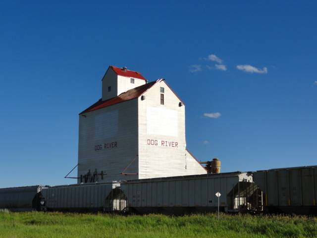 "Picture:  The Rouleau elevator, renamed Dog River for the CTV sitcom, ""Corner Gas""."