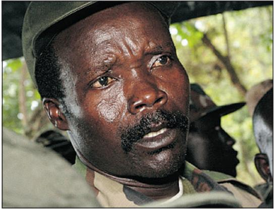 Picture:  Joseph Kony, a monster by any measure and worlds most wanted criminal.