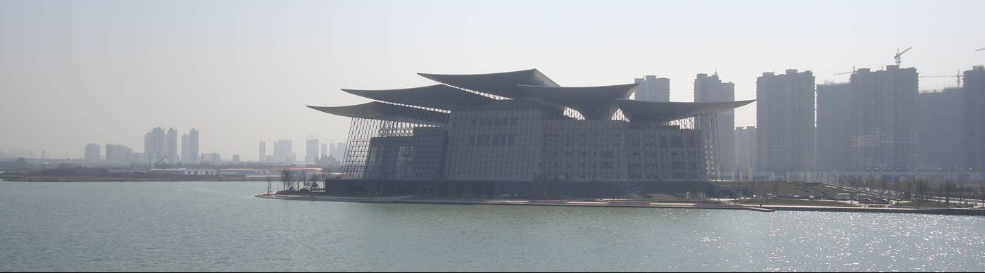 Picture: I don't know what this building on the edge of Tai Hu is, but if I was looking for the fortress of evil, it might get my nomination.  Wuxi, China