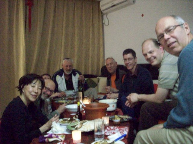 The assembled guests for a Seder,  Jiangnan University,  Wuxi,  China.