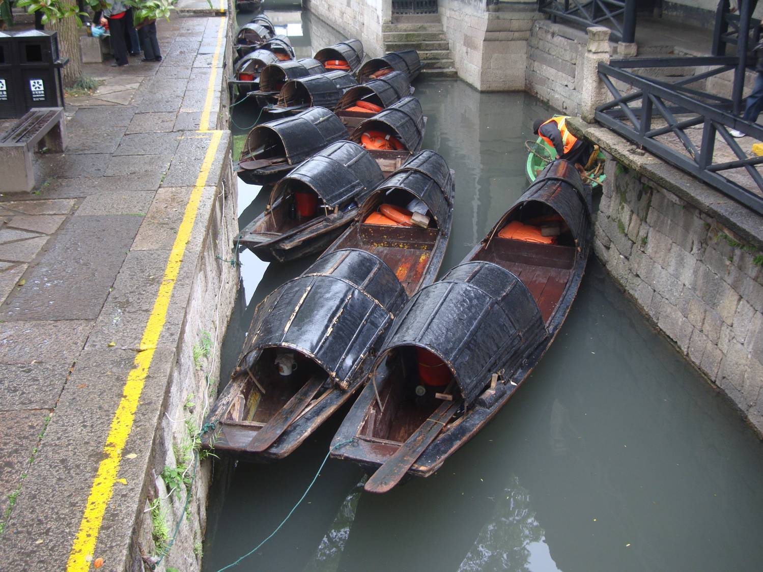 Picture:  This is an ancient water town.  The boat design hasn't changed for centuries.  Shaoxing, China.