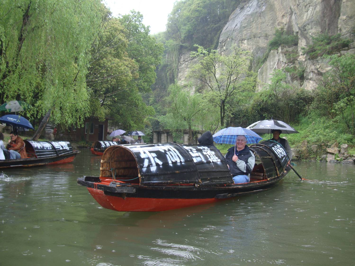 Picture:  I'd like to have one of these boats, and they can be bought for a very reasonable price.  But I don't know how I'd get it home to Canada.  Boating on Donghu, Shaoxing, China