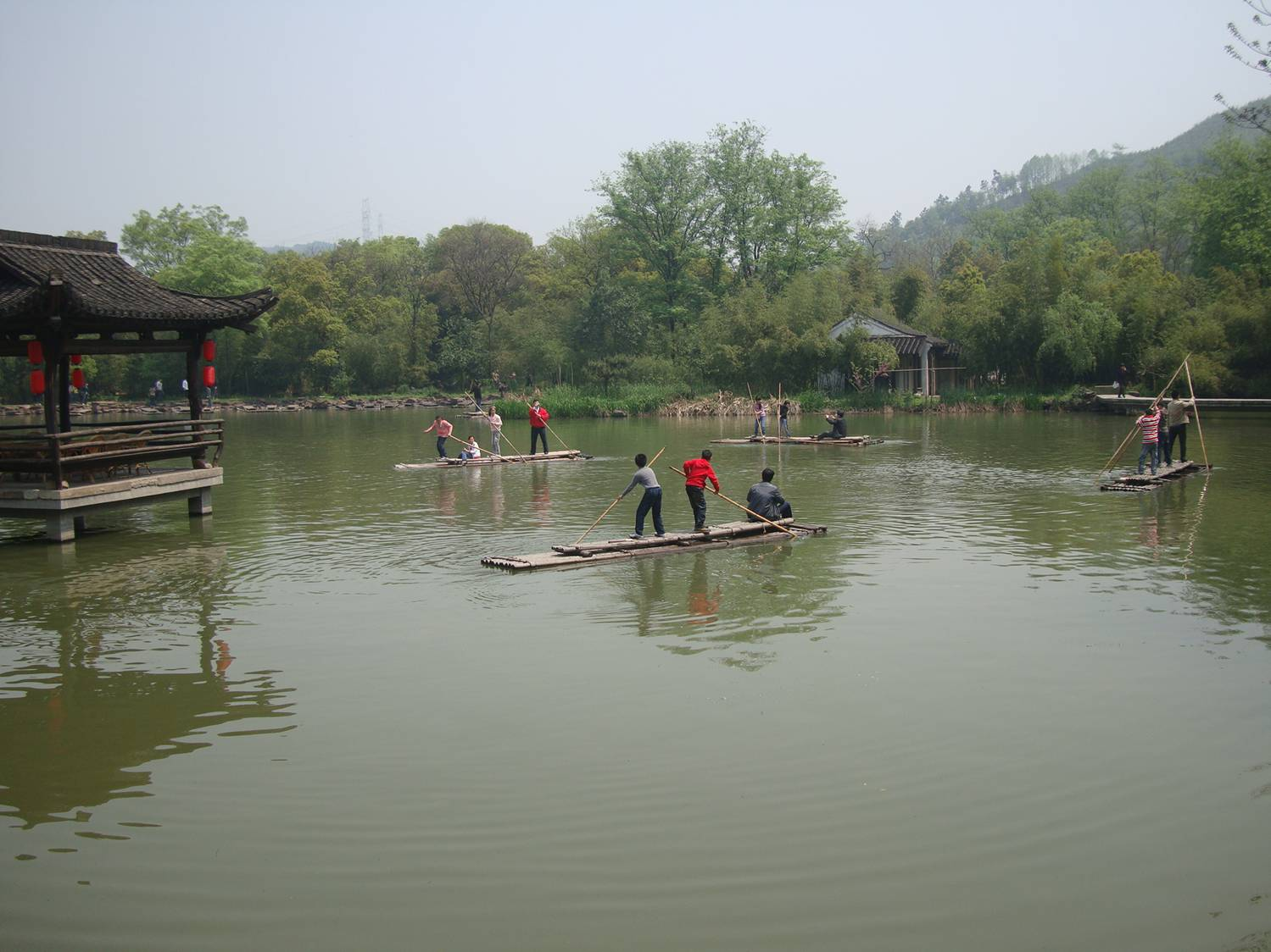 Picture:  There's a little Huck Finn in every kid, in every culture.  Lan King Gardens, Shaoxing, China