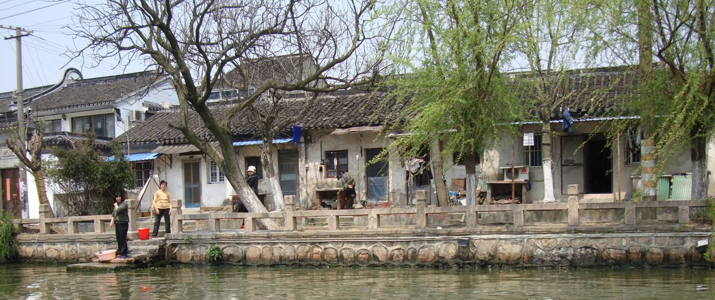 Picture:  On the bank of the canal in Suzhou, China.