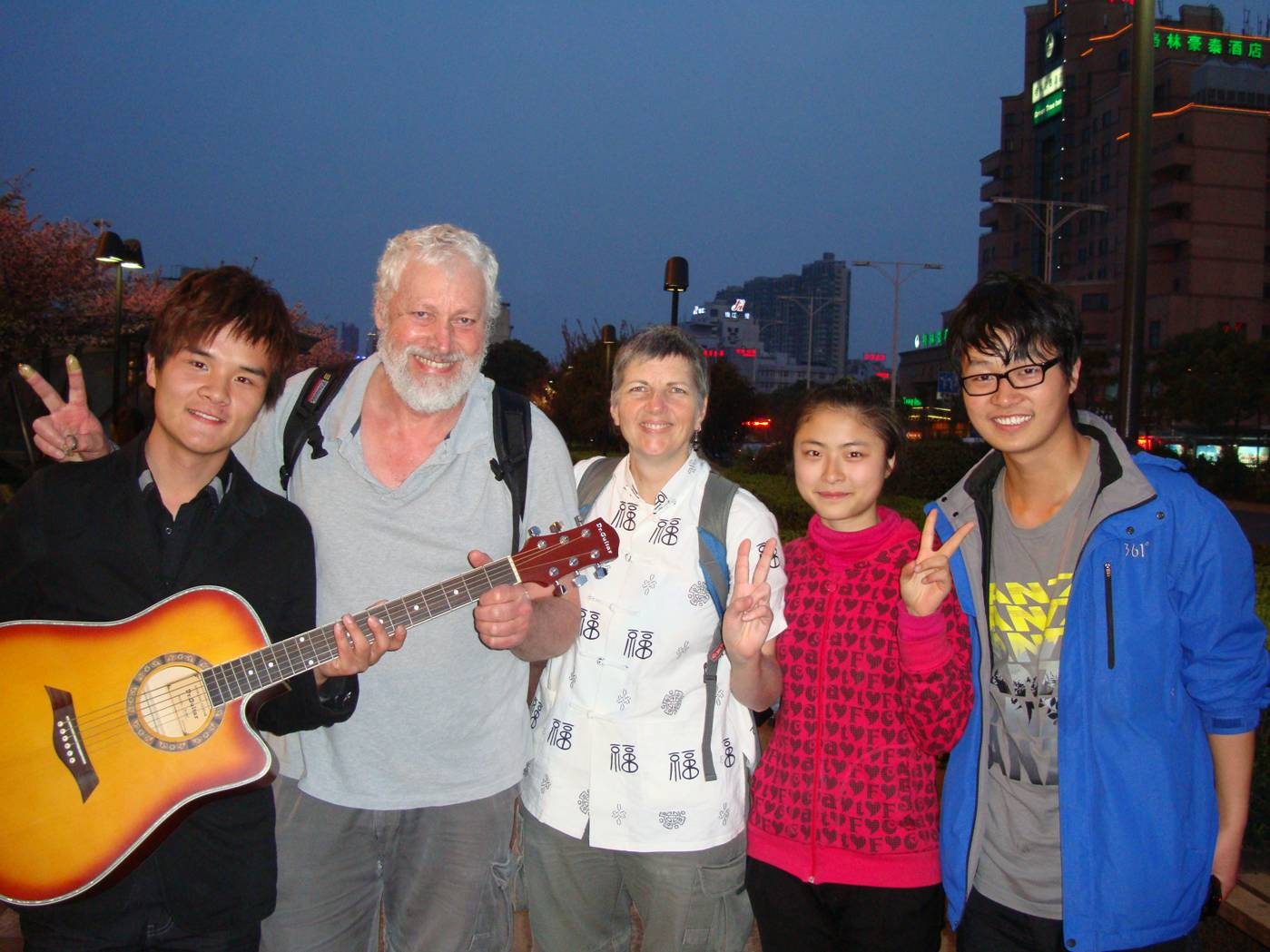 Picture:  The young buskers we performed for in Wuxi, China