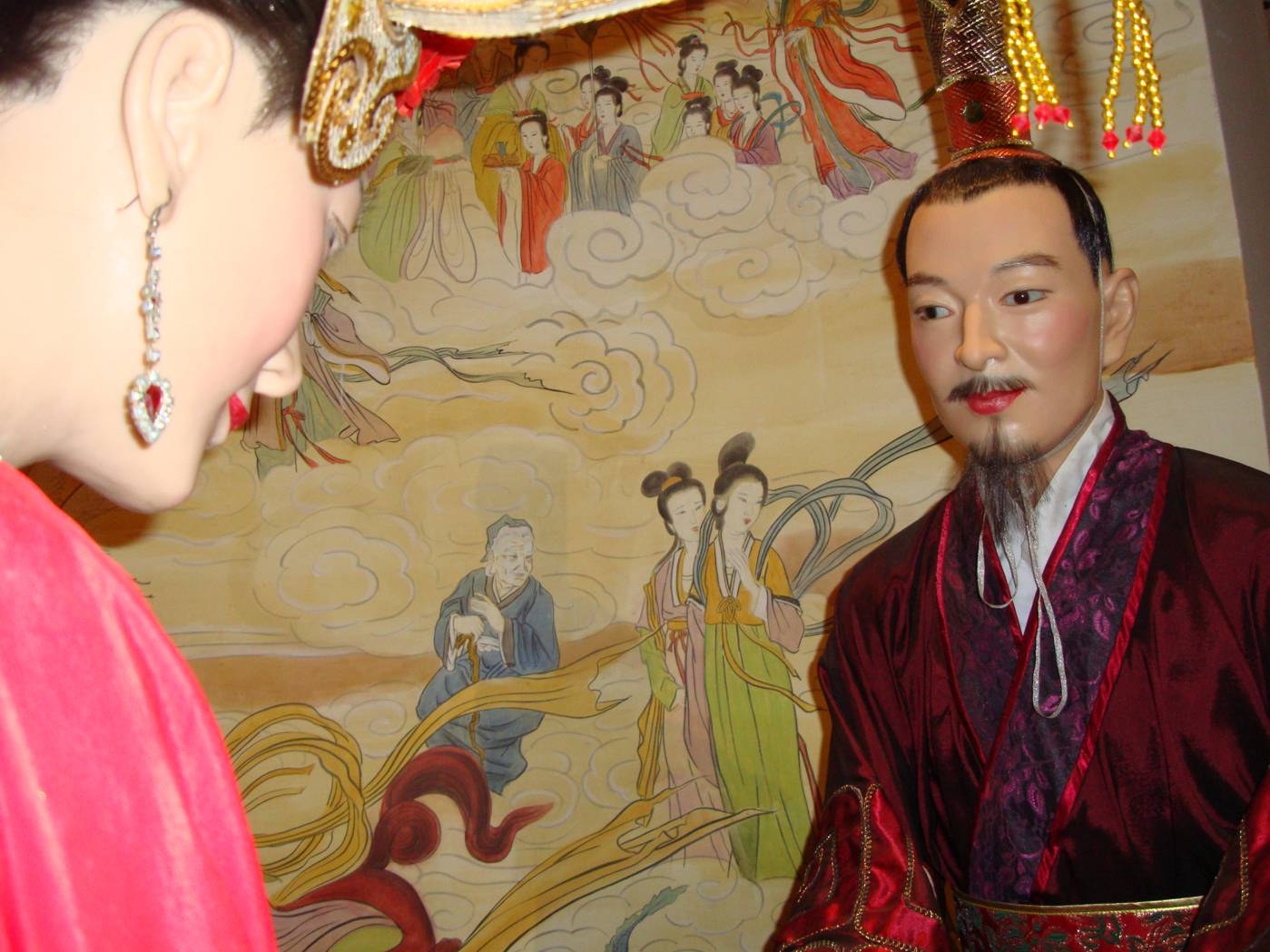 Picture:  A wax figure of a bride groom in the Tao Bo Yuan (Peach Museum), Yang Shan, Wuxi, China
