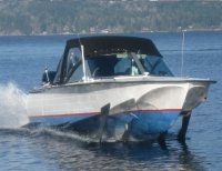 picture:  Don's water taxi, a Russian hydrofoil based out of Gibson's Landing, B.C.