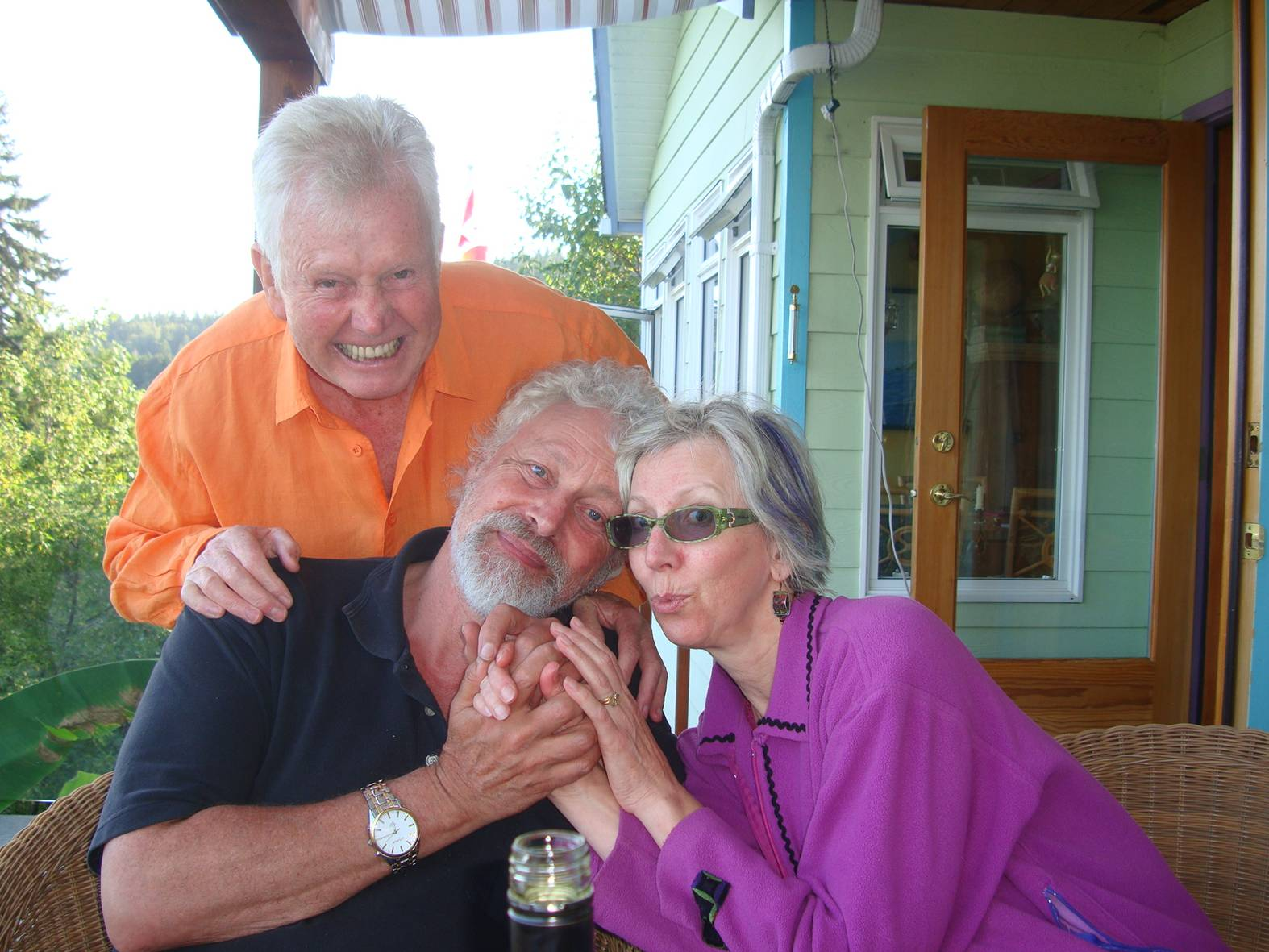 picture:  Dennis and Paula with David.  Delightful old friends.  Gibson's Landing, B.C.