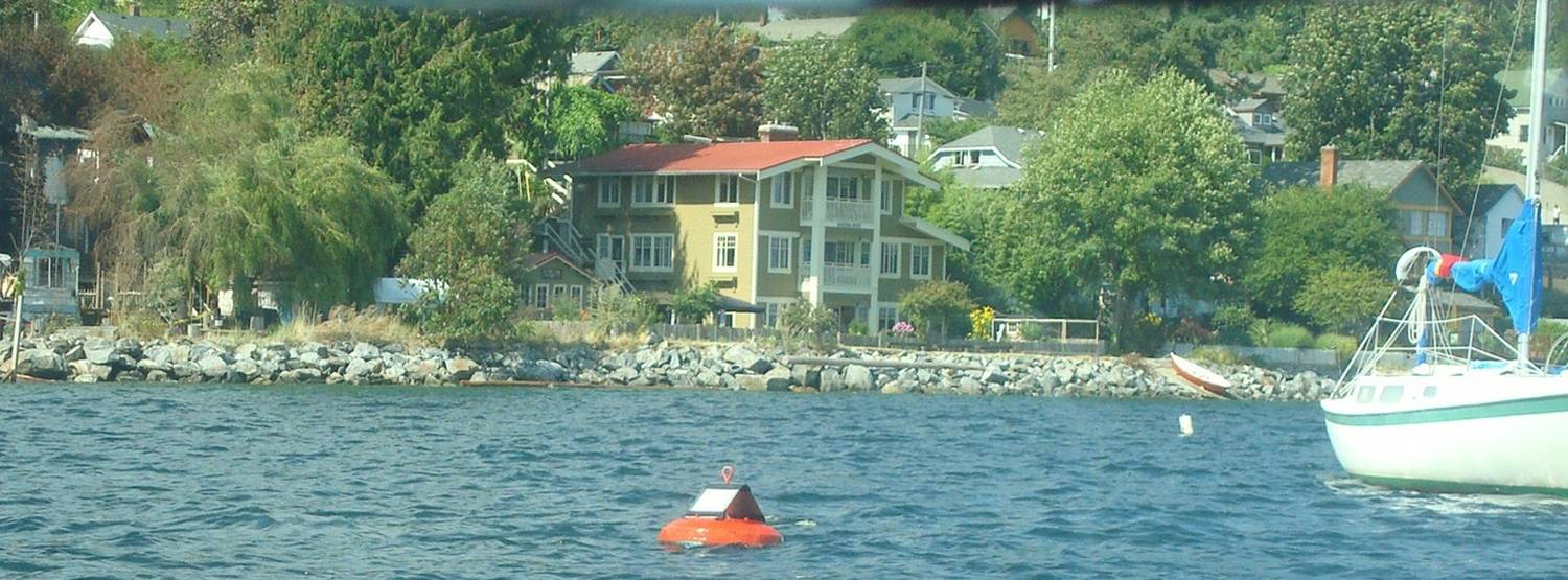 picture: My former home, Marina House in Gibsons Landing, as seen through the water taxi windshield.