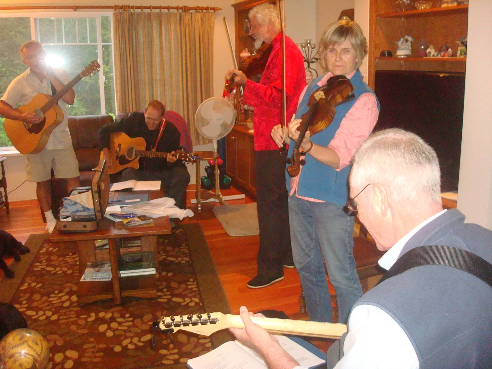picture:  jam session at our wedding party, Ruskin, B.C..