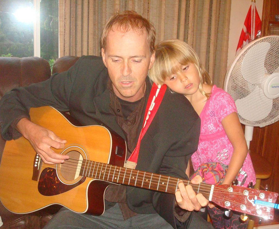 picture: Martin and Chloe at our jam session.  Ruskin, B.C.