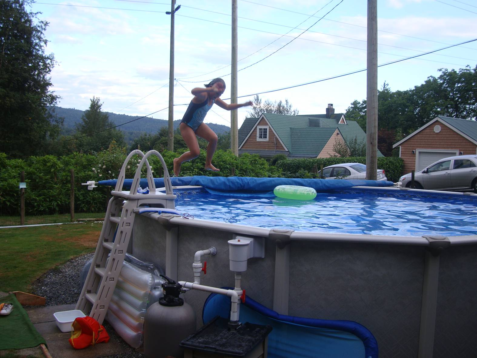 picture:  Isabelle made a big splash at our wedding celebration in Ruskin, B.C.