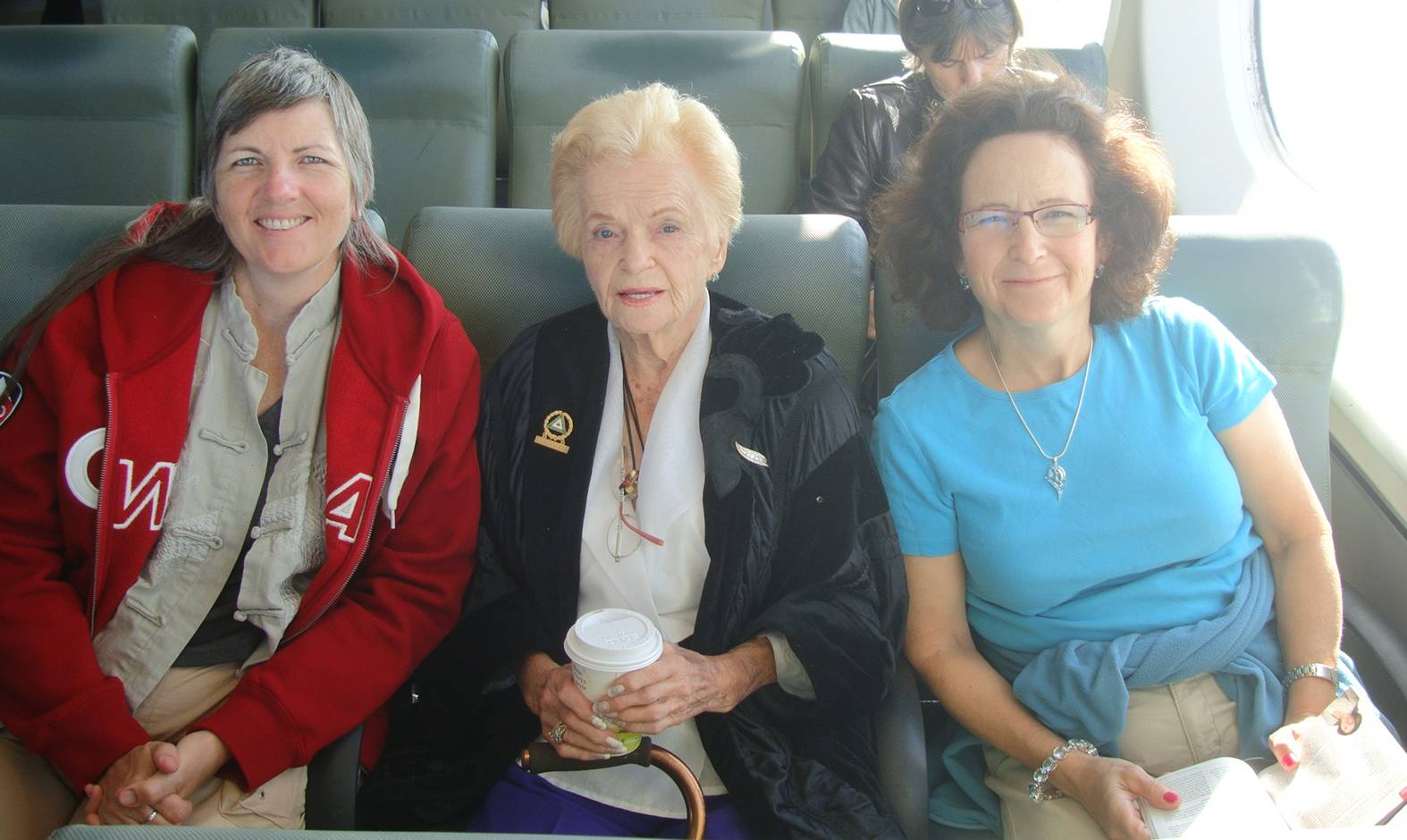 picture:  Ruth, Carrie and Sadie on the B.C. Ferry to the mainland.