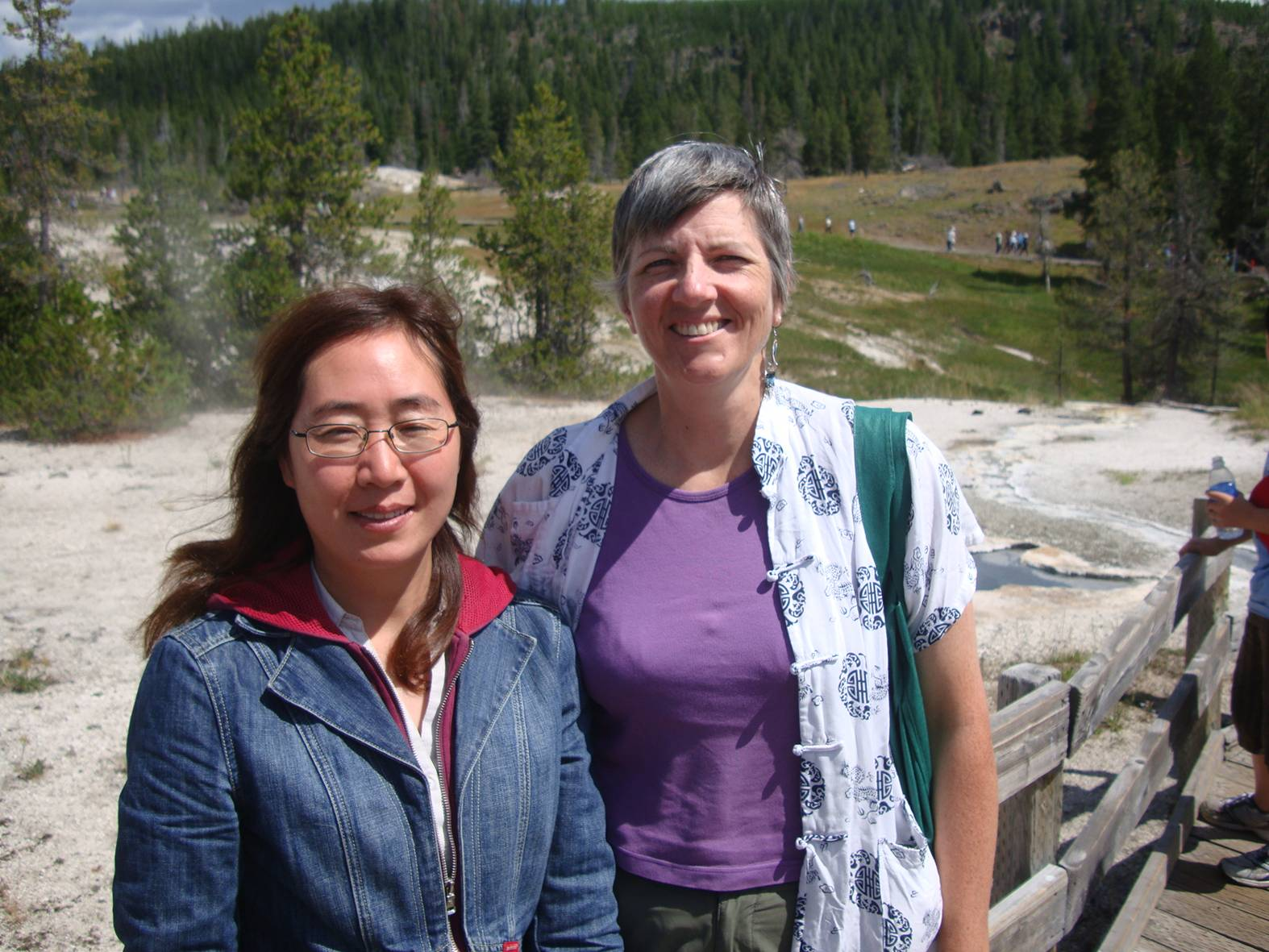 A Yellowstone visitor from Calgary, B.C., but a Chinese speaker.  I hope she sends me an email.