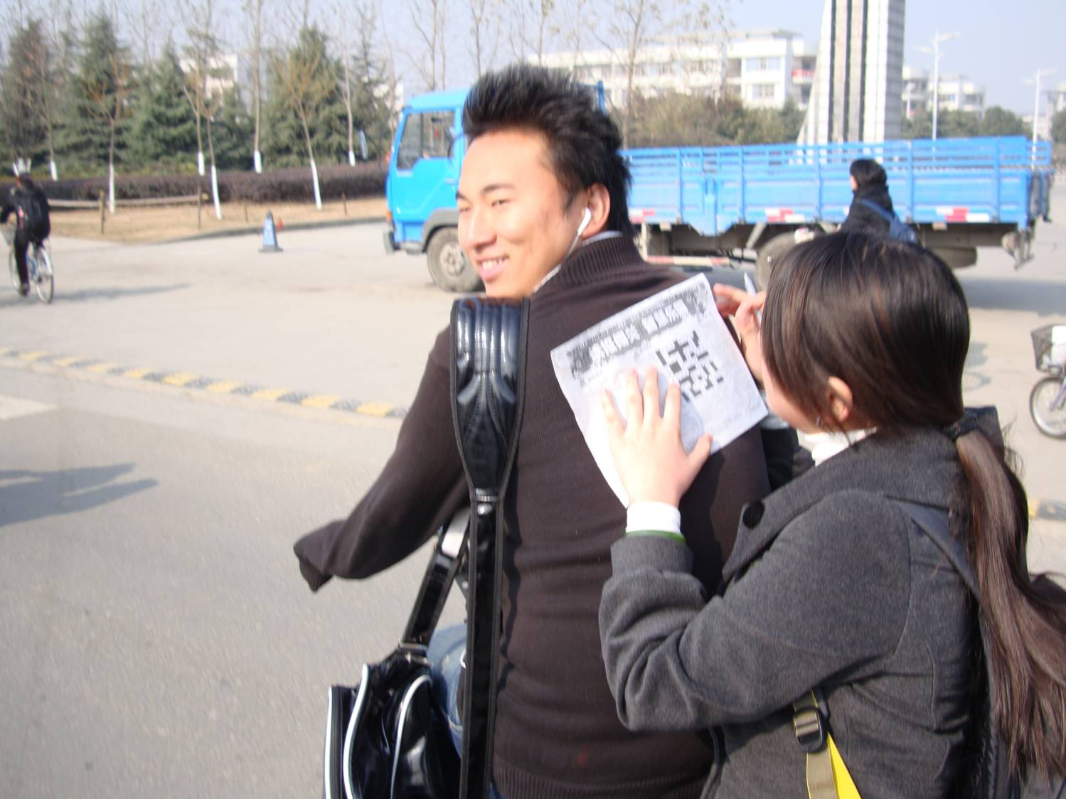 The crossword takes priority.  Jiangnan University,  Wuxi,  China