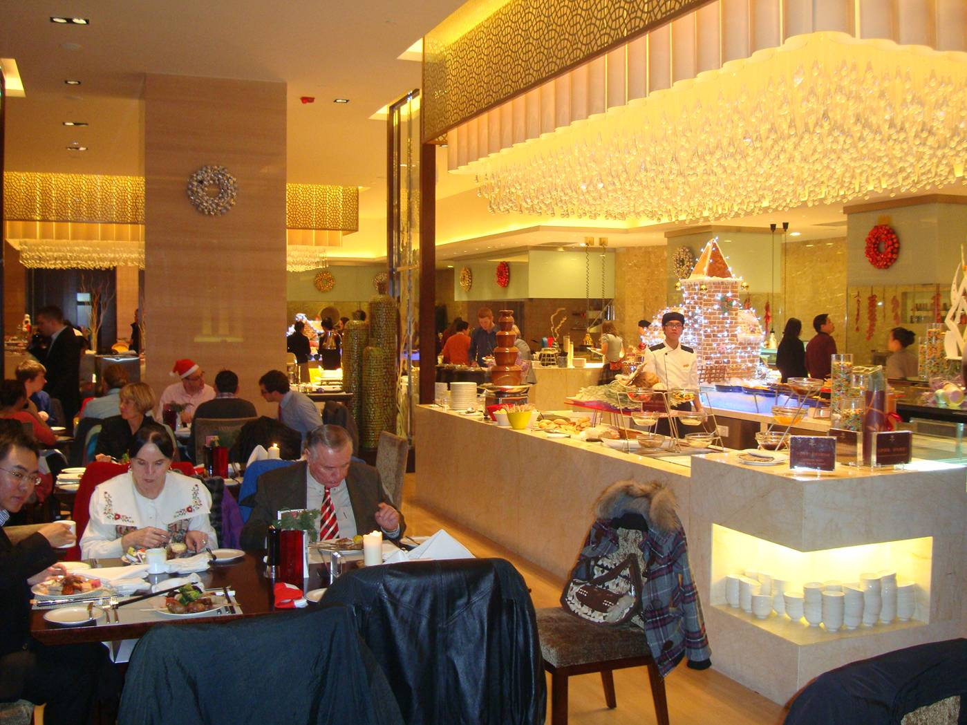 Picture:  Christmas buffet at the Sheraton.  Wuxi, China