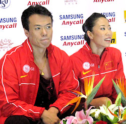 Xue Shen and Hongbo Zhao took the gold for China  in Vancouver.