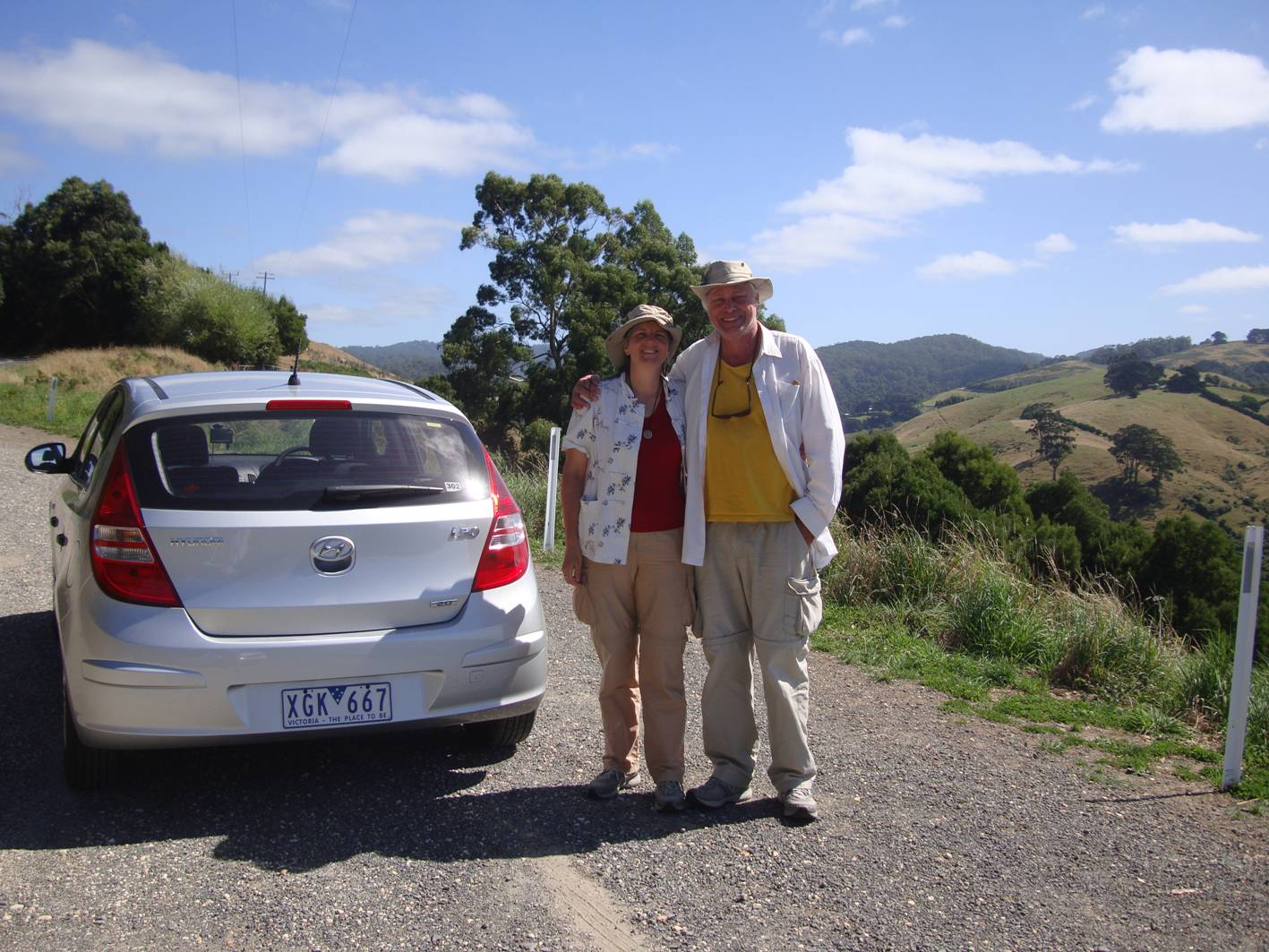 We rented a car for a few days of driving down the Great Ocean Highway.  Australia.