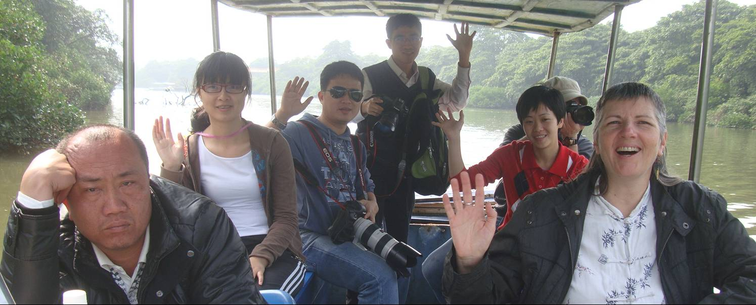 Picture:  We had a great time.  I think our driver was bored.  Haikou mangrove reserve, Hainan Island, China